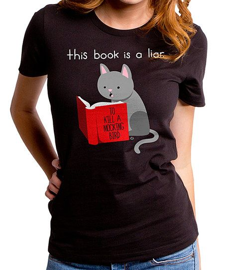 Goodie Two Sleeves Black This Book Is A Liar Tee | zulily