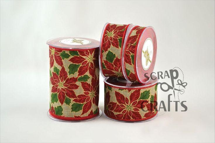 Χριστουγεννιάτικη+πολυεστερική+κορδέλα+με+τυπωμέα+αλεξανδρινά.+Κατάλληλη+για+χριστουγεννιάτικη+διακόσμηση....