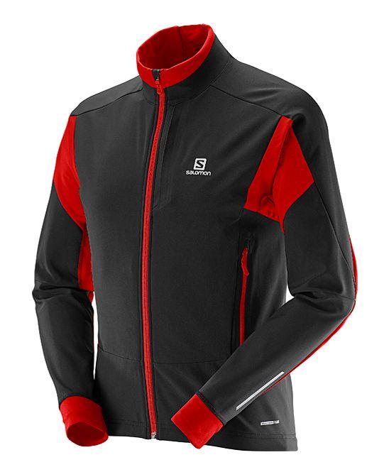 Black & Matador Red Momentum Softshell Jacket - Men