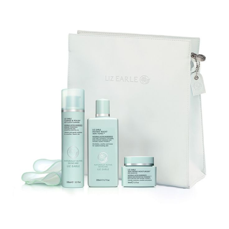 Our very first beauty must-have (before we start adding coverage, color, or shimmer) is glowing, healthy-looking skin—no easy feat, given our skin tends to get dried out and irritated all too easily. That's why we reach for this aptly named kit from Liz Earle, morning and night: This multipart system has everything we need to hydrate, tone, and exfoliate our skin, giving us a calm, clean complexion—and a radiant beginning to our beauty routine.