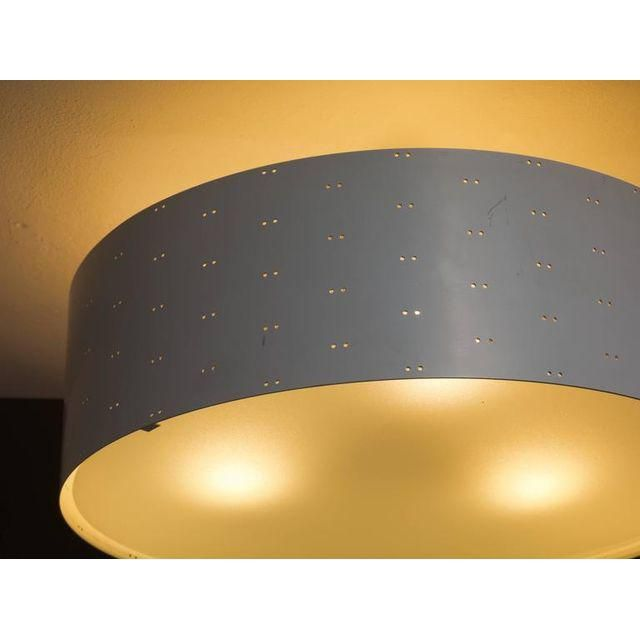 Image of Paavo Tynell Round White 9069 Flush Mount Lamp for Idman, Finland, 1950s