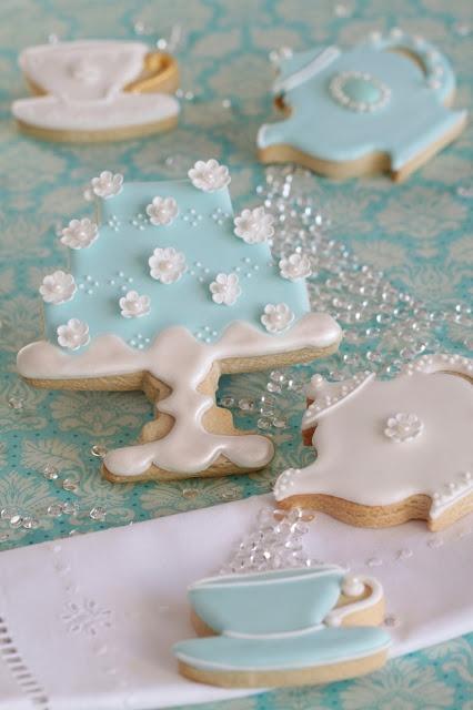 Tea time cookies, del libro: Cupcakes, Cookies & Macarons de Alta Costura de Patricia Arribálzaga