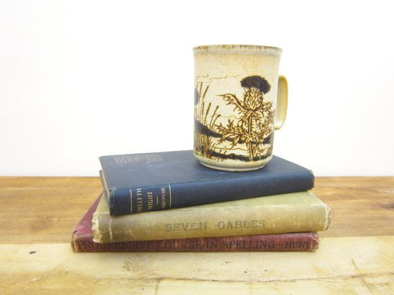 Vintage Dunoon Ceramics Mug Brown Scottish by FoxLaneVintage, $14.00