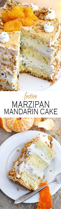 Marzipan Cake with mandarines | Marzipantorte mit Mandarinen wie von Coppenrath&Wiese (xmas food sweets)