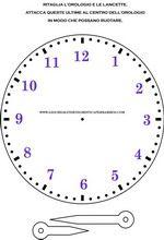 Orologio da stampare per imparare a leggere l'ora