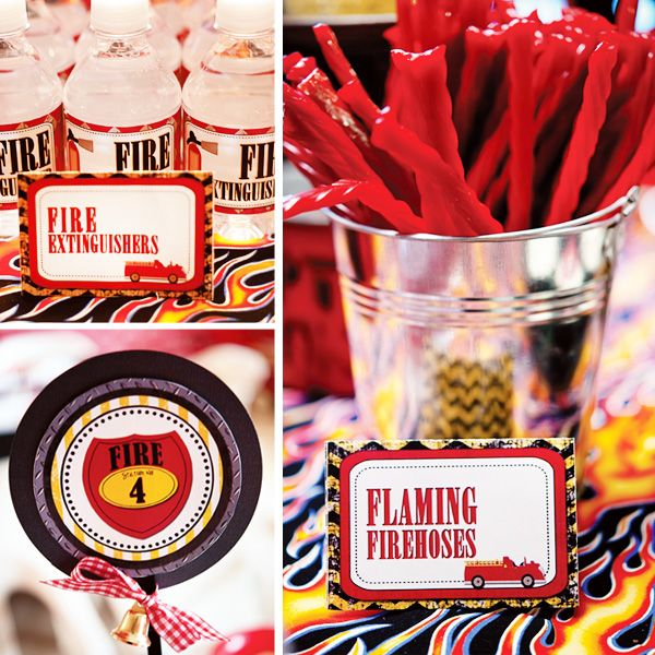 Firetruck birthday party by Frosting & Ink Social Designery #hwtm #firetruckparty #birthdayparty