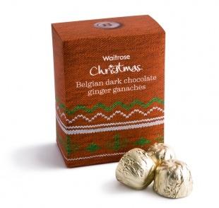Waitrose Christmas Belgian Dark Chocolate Ginger Ganaches