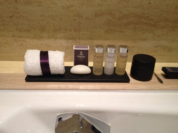 Asprey purple rain hotel toiletries great hotel for Bathroom tray for toiletries