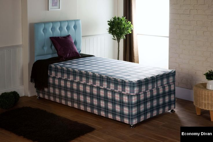 = £249.95 - An economy 4ft6 double mattress on a divan base.  These are a clearance item brand new from stock. Mattress fabric may differ from fabric on base.  The Economy mattress is lightly upholstered and suitable for smaller children or occasional guestbed use by older children or adults.4ft6 Economy Divan Bed