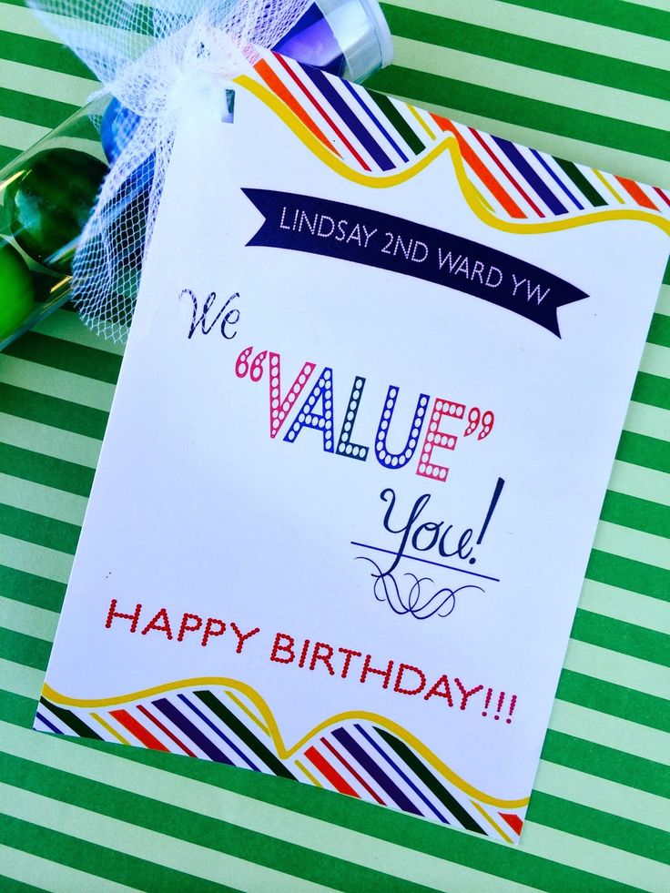 Young Womens Birthday Gift idea with FREE printable. From Marci Coombs Blog