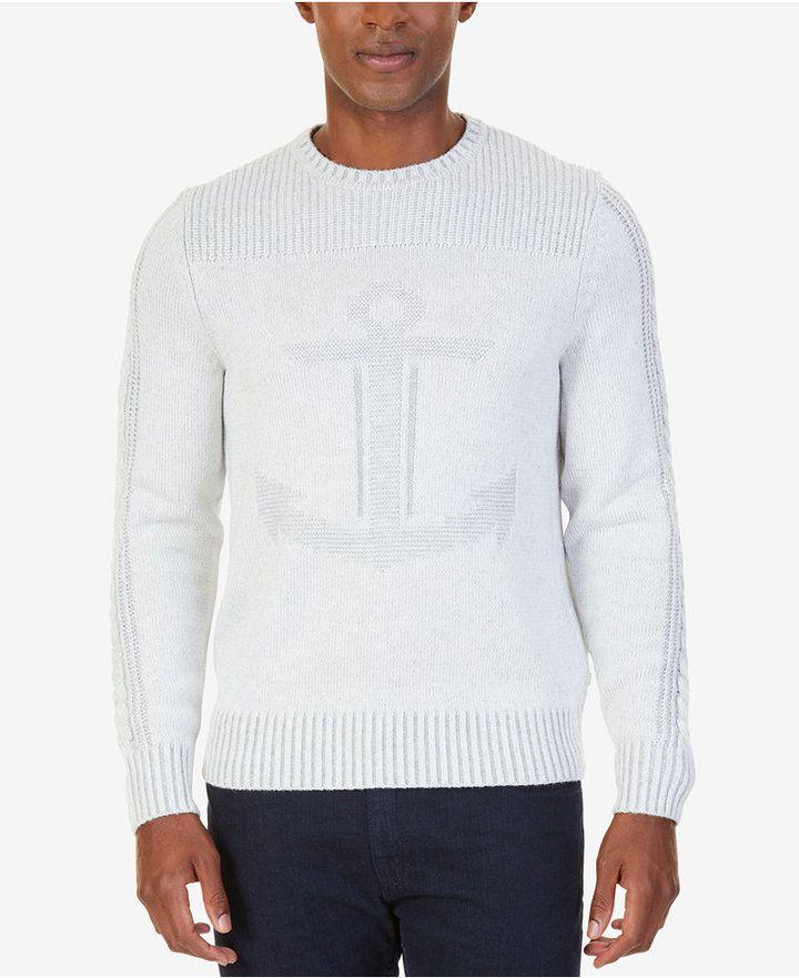Nautica Men's Intarsia Anchor Sweater