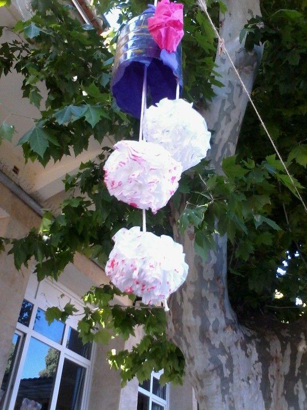 Fleur en mouchoir en papier