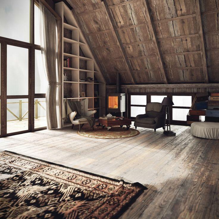 alfombra al estilo rústico para el salón