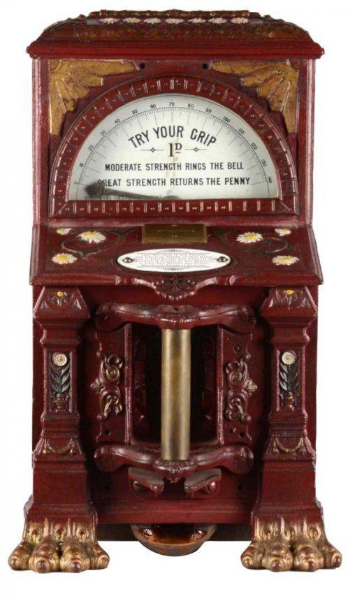 English Countertop Grip Tester Amusement Machine, London, 1895