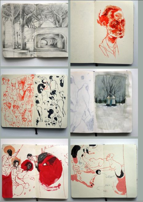 The Amazing Sketchbooks of Lars Henkel | Man Made DIY | Crafts for Men | Keywords: inspiration, illustration, art, book