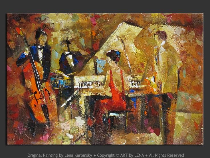 Modern Jazz Art Paintings