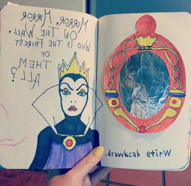 Omg omg omg! This is perfect for my wreck this journal! It's disney, arghhhhh!!!!