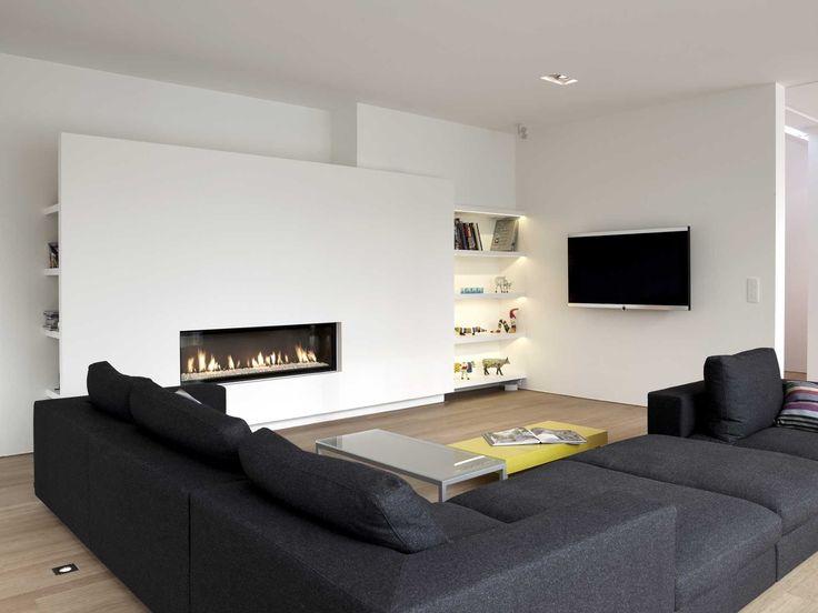 Meer dan 1000 afbeeldingen over woon dromen op pinterest geweien planken en tvs - Hoe kleed je een witte muur ...