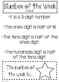 math for upper grades - love this. Could give kids until Friday to answer. Thinking index cards with their name on it, and the number. Every Friday, I'll draw from the correct answers and give out money/prize. Good way to get them used to the riddles that FCAT tries to kill them with.