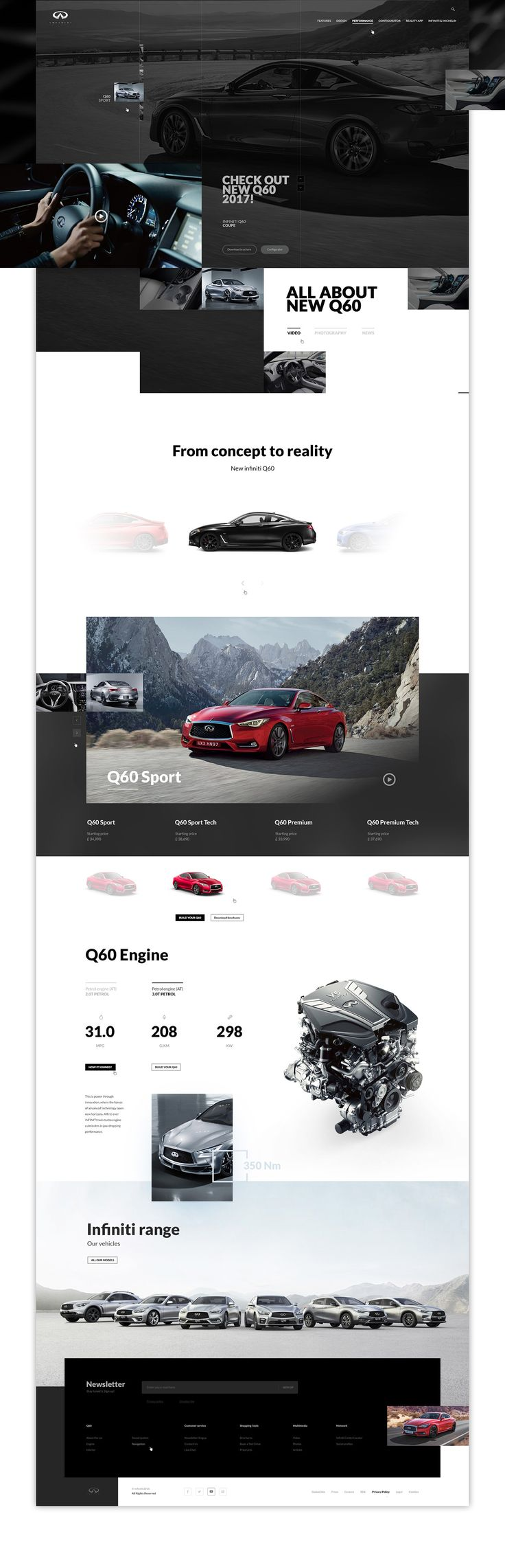 As a huge fan of infiniti cars I decided to create (as a private project) a website concept for them.