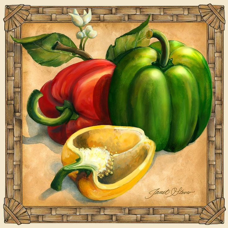 Peppers Canvas Print / Canvas Art by Janet Stever