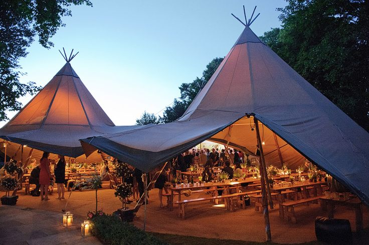 TeePee Wedding Tent. Can you imagine if I send this to Mom and Dad! Heeee heeee heee