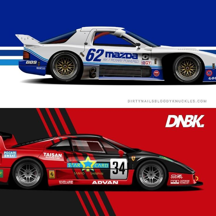 Stripes been on my mind lately... New motorsports hjstory artwork prints available at Dirtynailsbloodyknuckles.com  Link in profile  #ferrari #ferrariart #fcar #f40 #f40lm #carart #automotiveart #jgtc #mazda #rx7 #fc3s #fc3srx7 #imsa #gto #racecar #becauseracecar #motorsports #enzo #tbabrand #tbaprojectr32