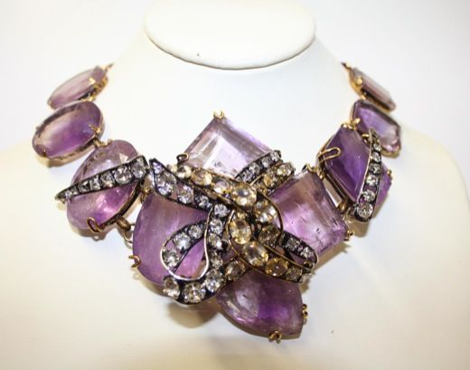 Iradj Moini Necklace | Iradj Moini Necklace - Amethyst and citrines - signed