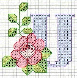 Letra U flores