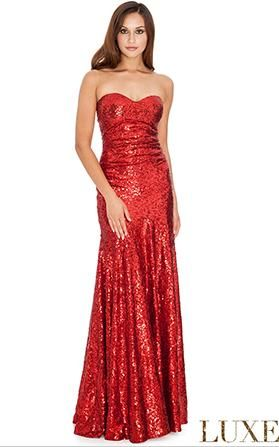BB2706. The ever popular elegant sequined gown. Red in store now. If you need an evening gown for an event or ball then try Bridal and Ball in Albany village. All our gowns are available for purchase or hire. See more options on http://bridalandball.co.nz/ball-gowns/