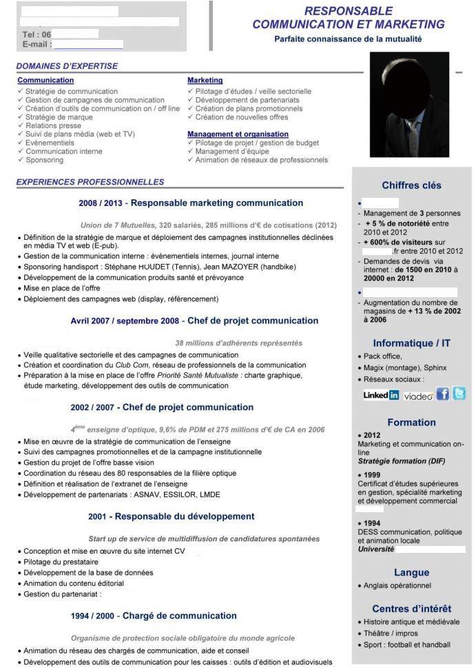 Meilleurs exemples de CV pour 2015 Exemple cv, Modèle cv