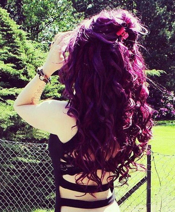 Dark Plum Hair Color   Hair Color Trend 2015