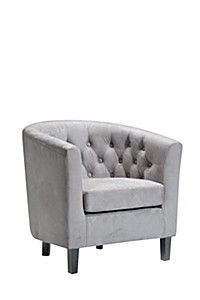 MOCK SUEDE TUB CHAIR