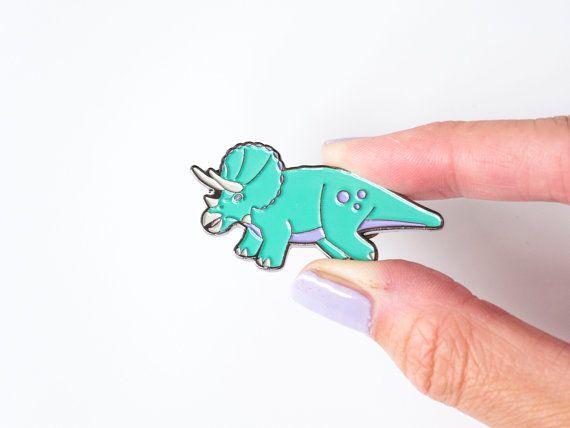 Triceratops dinosaur enamel pin. designosaur by designosaurYEAH