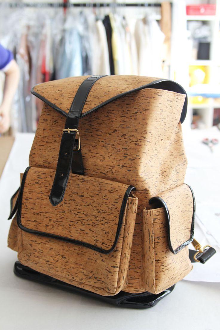 Ostwald Helgason's S/S 2012 cork backback