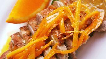 piept de rata cu portocale