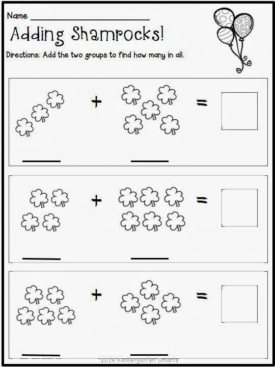 kindergarten smarts st patricks day math and literacy centers with printable worksheets with - Free Printable Worksheets For Kids