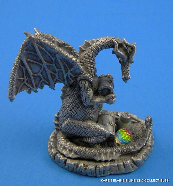 Vintage 1987 gallo pewter figurine statue dragon hoard pewter vintage and figurine - Pewter dragon statues ...