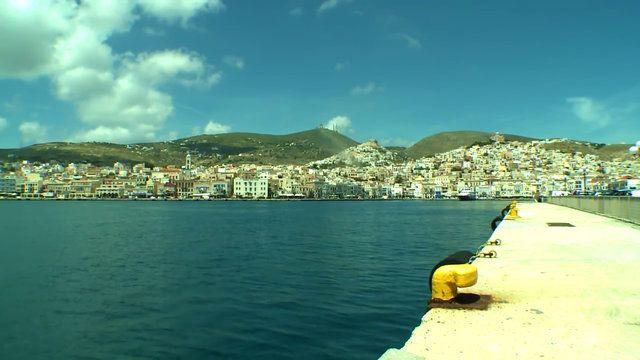 Port view from Syros island Cyclades    Όμορφη θέα από το λιμάνι - φάρο στην Ερμούπολη   #aegean #port #walk #nature #environment #sea #city #marine #sky #blue #pintrplaces #place #Ermoupoli #Hermoupolis #Syros #island http://my.aegean.gr/gallery/Places/Greece/Syros/Syros_island_port_aristeiaacadem_f1_1280hi.jpg.html