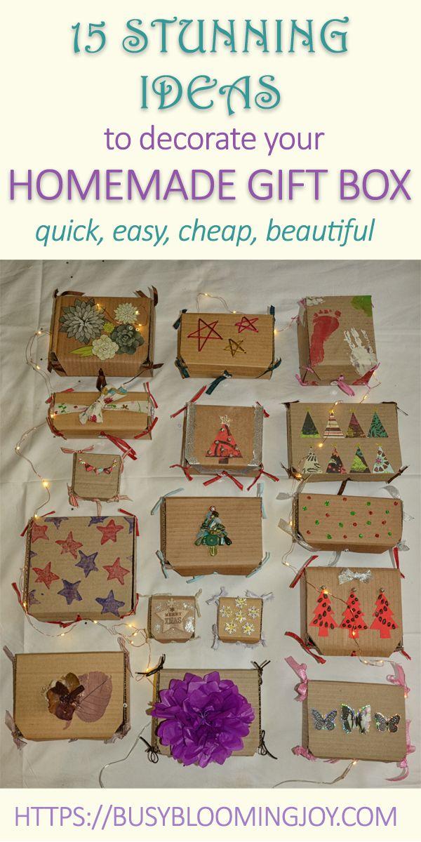 Box Decoration Ideas : decoration, ideas, Simple, Stunning, Decoration, Ideas, Homemade, Boxes,, Boxes, Decoration,