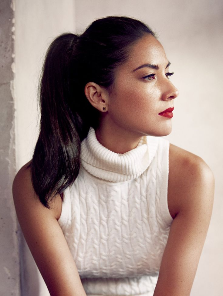 Olivia Munn looking beautiful with a simple #pretty #ponytail
