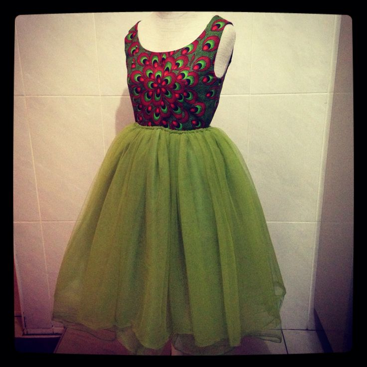 Fashion things Designs by Nozu Tulle Afro dress