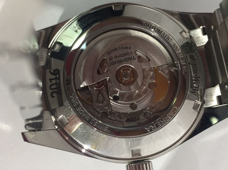 We laser engraved palatino font on the back of this Tag watch