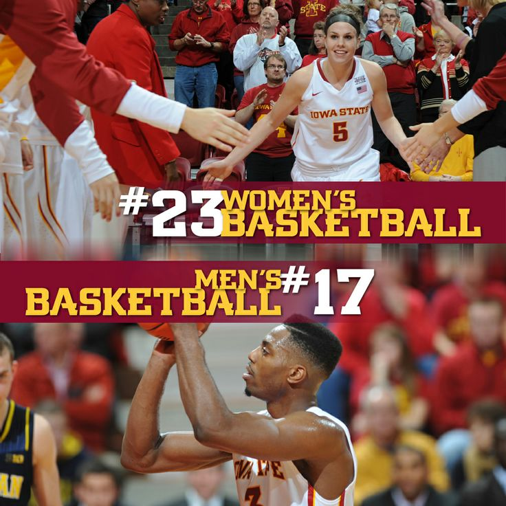 Both our men's and women's basketball programs are nationally ranked! Congratulations to both teams. Nov 2013 #CyclONEnation