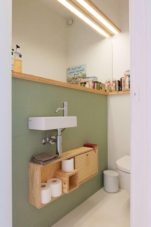 idd te lelijk toilet- hoe verzinnen die stylisten het..arghh, maar het groen vind ik mooi voor de woonkamer