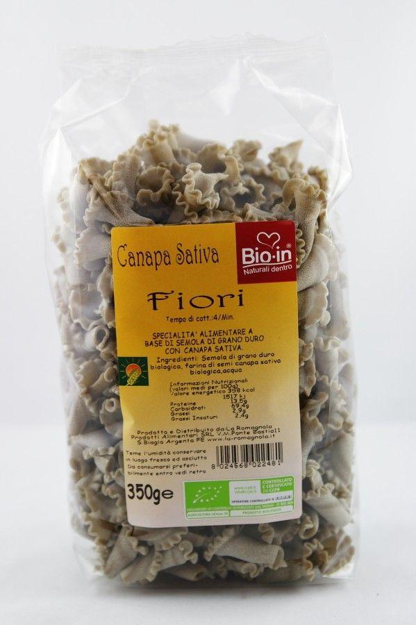 Vendita online | Fiori Pasta con farina di semi di canapa sativa a base grano duro biologico La Romagnola Bio - Gastronomia - Prodotti Italiani