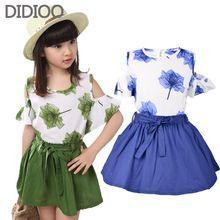 Conjunto de roupas meninas estilo verão 2015 crianças de moda roupas para crianças floral blusa e saia tutu 2 pcs terno dos esportes para a roupa dos miúdos(China (Mainland))