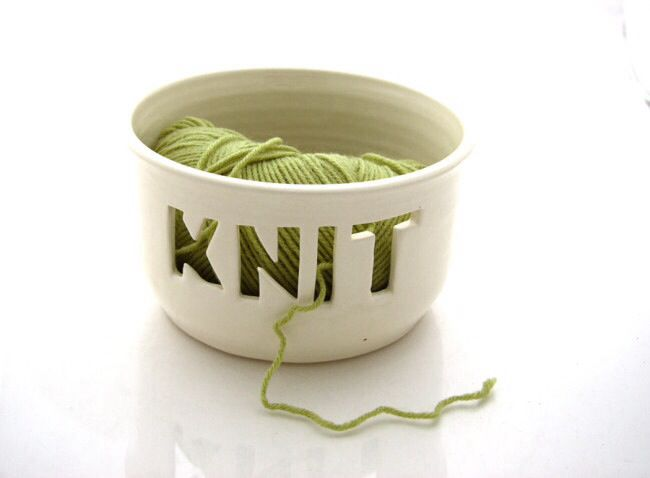Genius, so  you can knit and keep your wool in place. Prettier than the teapot method!                                                                                                                                                                                 More