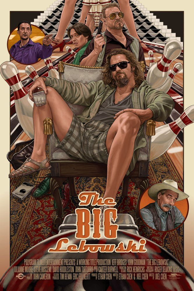 Art Print Poster CANVAS The Big Lebowski Classic Movie 7