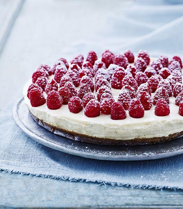 Cheesecake med hindbær